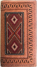 Load image into Gallery viewer, Western Aztec Beaded Rodeo Twisted-X Wallet