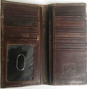 Twisted-X Brown Gator Leather Rodeo Wallet
