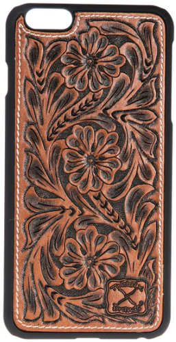 Twisted X Western Cognac Tooled Justin Cell Phone Snap-On Case for iPhone 6+