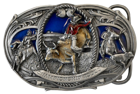 Championship Rodeo Belt Buckle - Small (Made in the USA)