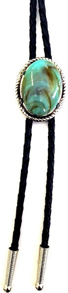 (AA1182-ASST) Western Bolo Tie With Large Turquoise Stone