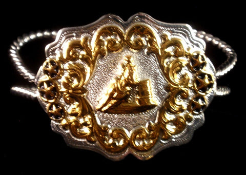 (AASBR10B) Western Barrel Racer Bracelet with Rope Cuff Band
