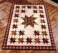 "(ABC1147337) Western Patchwork Star Area Rug 63"" x 90"""