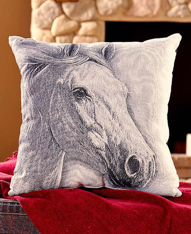 "(ABC1170761) Western Horse Accent Pillow 17"" x 17"""