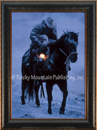 """Winter Save"" Western Framed Canvas Print"