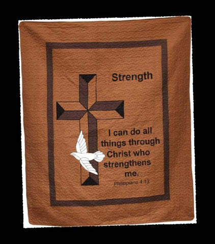 "(AHT-QC15305) ""Strength"" Inspirational Throw"