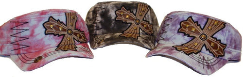 (APPAC-CROSS) Vintage Patch Army Fashion Hat with Cross