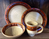 "(ART-DS516) ""Cowboy"" Western 16-Piece Dinnerware Set"