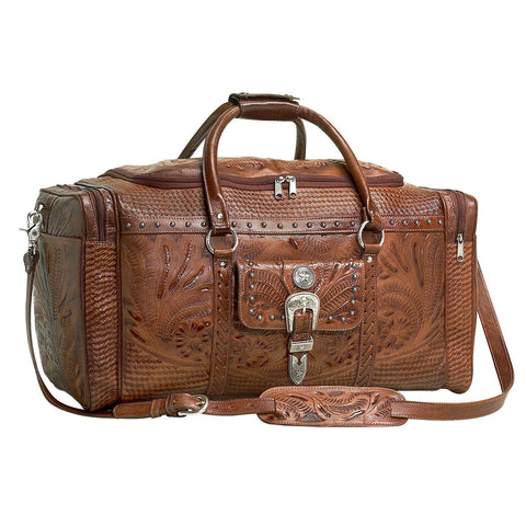 "(AW8565721) ""Retro Romance"" Western Leather Rodeo Bag by American West"