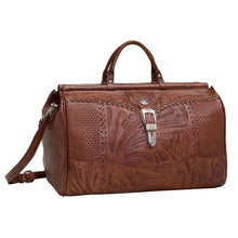 "Load image into Gallery viewer, (AW8565739) ""Retro Romance"" Western Leather Duffel Bag by American West"