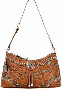 "(AWLCBT285) ""Lady Lace"" Western Shoulder Bag"