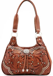 "(AWLCBT767) ""Lady Lace"" Western 3-Compartment Zip-Top Tote"