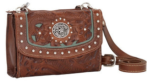 "(AWLCBT982) ""Lady Lace"" Western Crossbody Bag/Wallet"