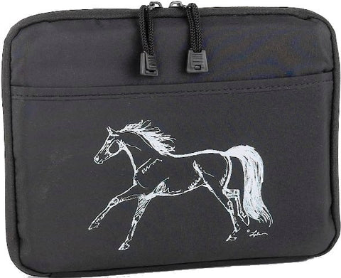 (AWST-GG932) Black Horse iPad Case with Adjustable Stand