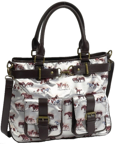 "(AWST-LL1049PP) ""Hit the Trail"" Western Purse with Front Pockets"