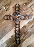 (BLA30) Genuine Large Horseshoe Cross - Made in USA