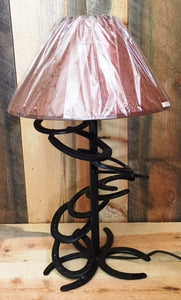 (BLA94) Western Spiral Horseshoe Table Lamp