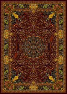"(BSBSTKINCIERD) ""Trophy Room Red"" Western Carpet Grade Area Rug"