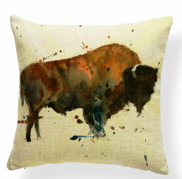 """Buffalo"" Accent Pillow 18"" x 18"""