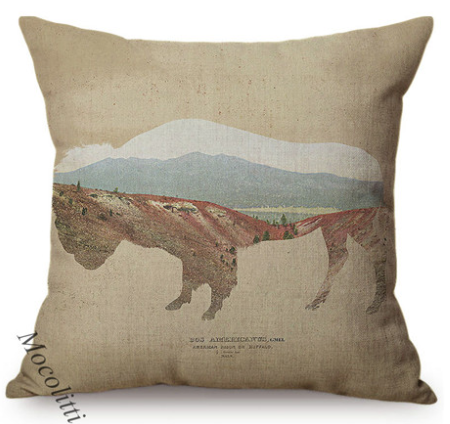 Buffalo Mountain Decorative Accent Pillow