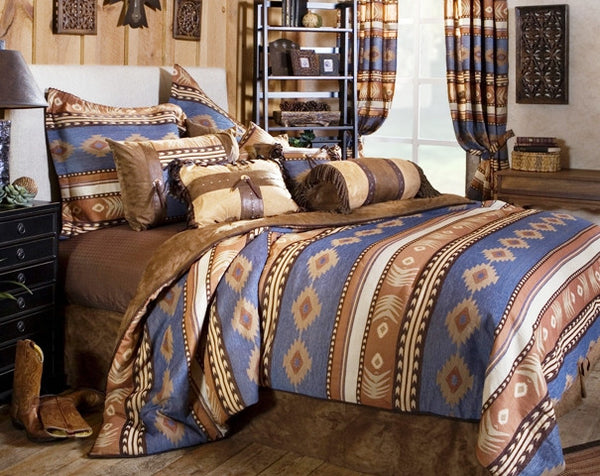 "(CARJB1110) ""Sierra"" 4-Piece Western Bedding Ensemble Twin"
