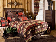 "(CARJB1702) ""Cimarron"" Western 5-Piece Bedding Ensemble King"