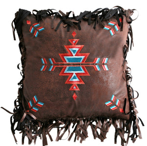 (CARJB2072) Western Embroidered Cross Decorative Pillow