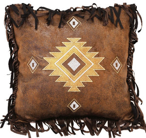 "(CARJB4183) ""Old West Stripe"" Diamonds Accent Pillow - 18"" x 18"""
