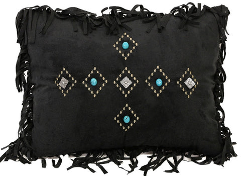 (CARJB4188) Western Black Diamond Accent Pillow