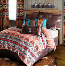 "Load image into Gallery viewer, (CARJB6100) ""Mojave Sunset Western 4-Piece Bedding Set - Twin"