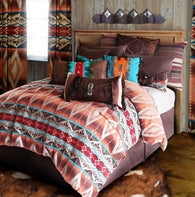"(CARJB6100) ""Mojave Sunset Western 4-Piece Bedding Set - Twin"
