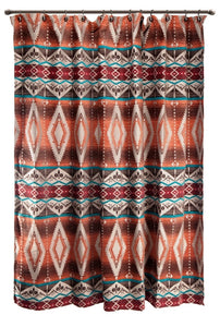 "(CARJB6105) ""Mojave Sunset"" Western Shower Curtain"