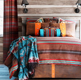 "(CARJB6110) ""Canyon View"" Western 5-Piece Bedding Set - King"