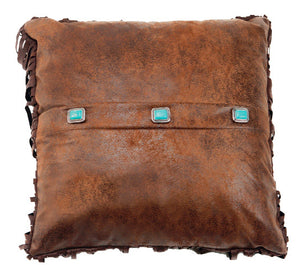 "(CARJB6141) ""Canyon View"" Western 3-Concho Accent Pillow"