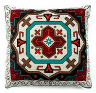 "(CARJB6151) ""Canyon View"" Western Embroidered Shield Accent Pillow"