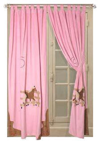 "(CARJCGDR) ""Cowgirl"" Western Pink Horse Drapes"