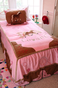 "(CARJCGF4PC) ""Cowgirl"" Western 4-Piece Bedding Set - Full"