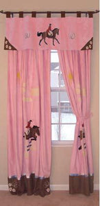"(CARJEEDR-VAL) ""English"" Western Kid's Drapes & Valance"
