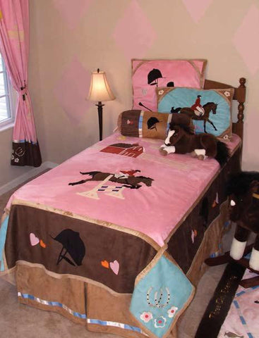 "(CARJEET4PC) ""English"" Western Kid's Equestrian 4-Piece Bed Set - Twin"