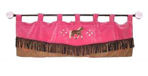 "(CARJLVAL) ""Cowgirl Leopard"" Western Valance"