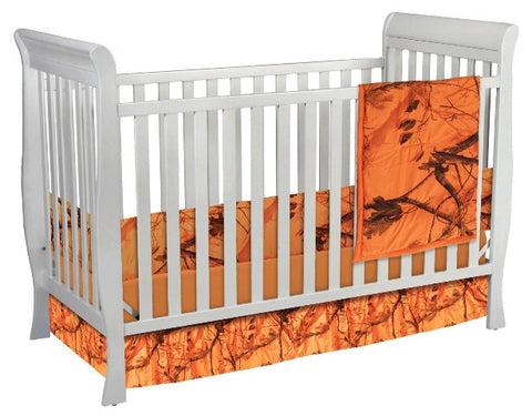 "(CARRT617) ""Camo Blaze"" Western 3-Piece Crib Bedding Set"