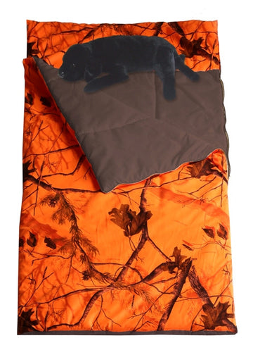 "(CARRT754L) ""Camo Blaze"" Western Slumberbag with Lab Pillow"