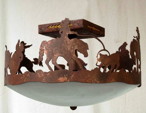 (CC-CL315RD-C128) Rodeo Western Ceiling Light