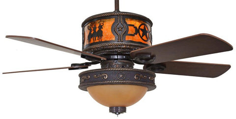 Riders stars western ceiling fan star light kit free shipping ceiling fan with star light kit cc kvshr brz lk515 rdsstz riders stars aloadofball Choice Image