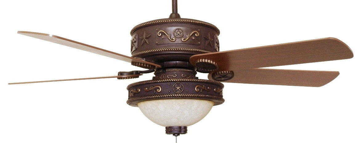 Western Star Ceiling Fan With Light Kit Free Shipping Wild West Living