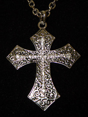 (CDS-CP1708) Western Cross Pendant Necklace