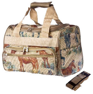 (CDS-HT1320-13) Horse Tapestry Duffle Bag 13""