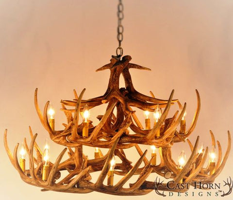 Whitetail deer 24 antler chandelier 42 free shipping wild chd w24 whitetail deer 24 antler chandelier aloadofball Images