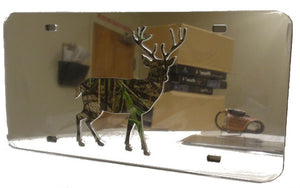 "(CLD-BUCKLT) ""Camo Buck"" Light Mirrored License Plate"