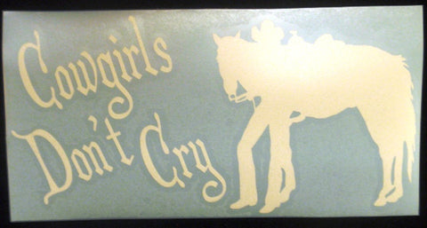 "(CLD-CGDCDCL) ""Cowgirls Don't Cry"" Western Decal"
